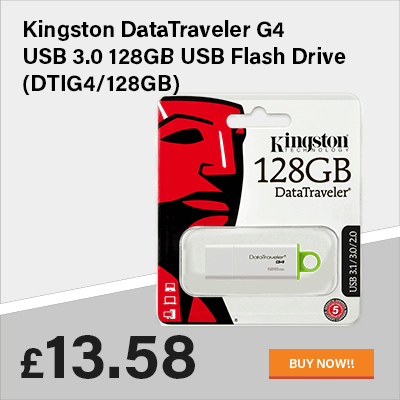 Kingston DataTraveler G4 USB 3.0 128GB USB Flash Drive (DTIG4/128GB)