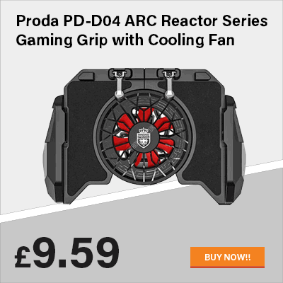 Proda PD-D04 ARC Reactor Series Gaming Grip with Cooling Fan (Black)