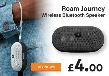 Roam Journey Bluetooth Speaker for just £4