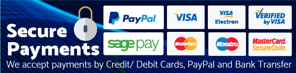 Secure Payments by Credit Debit Cards and PayPal