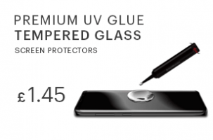 UV Glue tempered glass screen protectors wholesale in uk