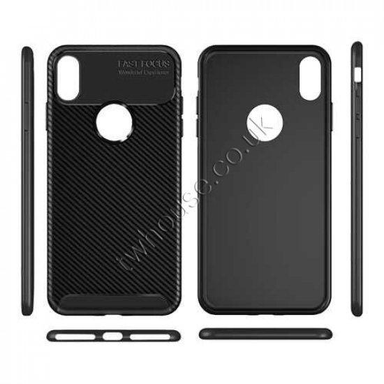 "Carbon Fiber Texture Back Cover Case for iPhone 11 Pro (5.8"")"