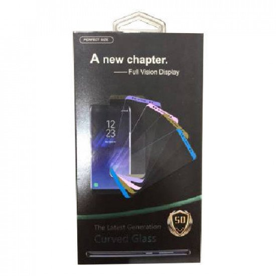 5D Curved Tempered Glass Screen Protector for Samsung S20 Plus (Black)