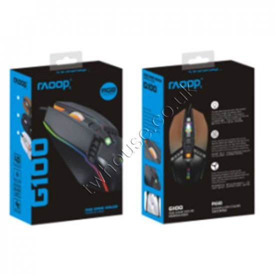 RAOOP G100 Wired Mouse with Light