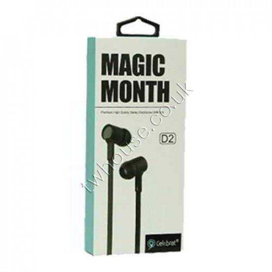 Magic Month D2 Stereo Earphones Headphones With Mic