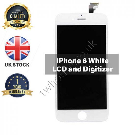 Generic High Quality Replacement LCD & Digitizers Compatible with iPhone 6 (White)