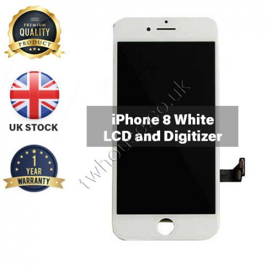 Generic High Quality Replacement LCD Compatible with iPhone 8 (White)