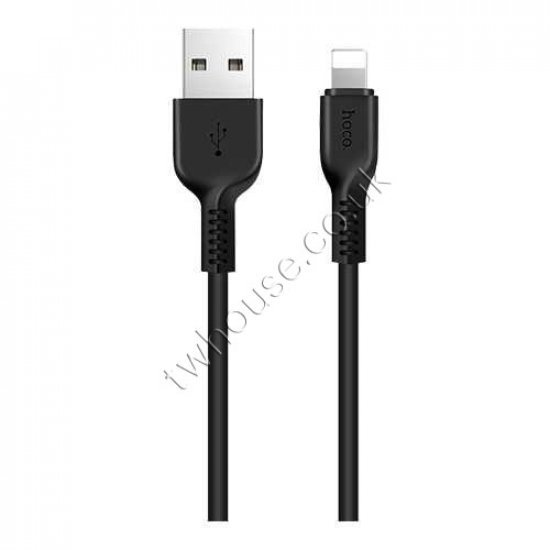 HOCO X13 2A 1M USB Charging and Data Cable with Connector Compatible with iPhone (Black)