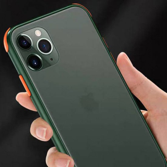 """ZUZU Smoke Shockproof Protective Back Cover Case for iPhone 12/12 Pro (6.1"""")"""