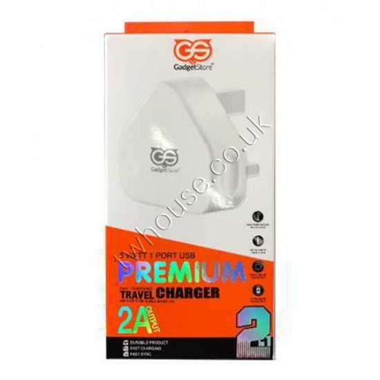 2.1A Gadget Store 2-In-1 Fast Charger Kit Micro USB