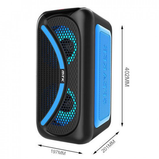 Moveteck TF4161 25W TWS Bluetooth Speaker (Blue)