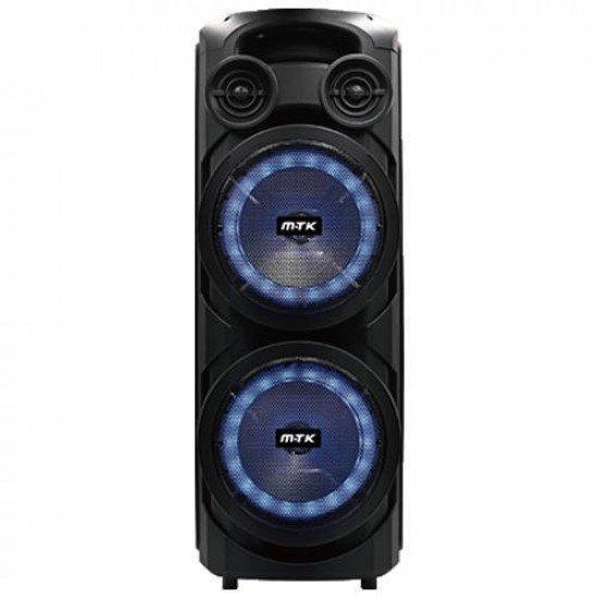 "Moveteck TF4164 50W Dual 8"" TWS Bluetooth Speaker with Mic & Remote (Black)"