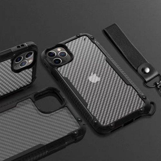 "ZUZU Clear Carbon Fiber Design Armor Case for iPhone 11 Pro (5.8"")"