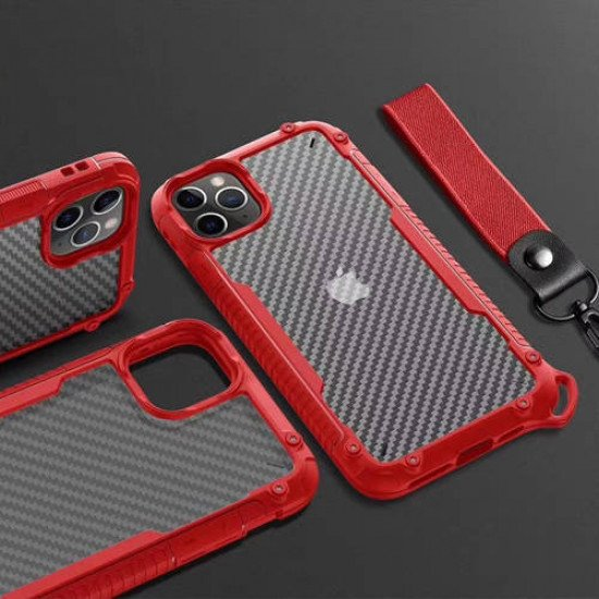 "ZUZU Clear Carbon Fiber Design Armor Case for iPhone 11 (6.1"")"