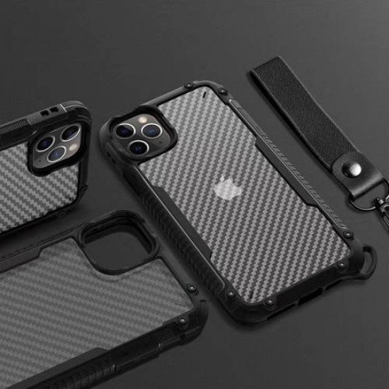 "ZUZU Clear Carbon Fiber Design Armor Case for iPhone 11 Pro Max (6.5"")"