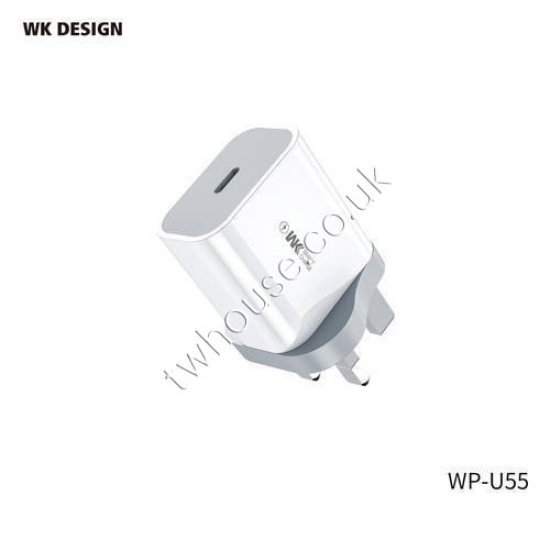 WK Design WP-U55 20W PD USB-C Fast Charger Wall Plug Adaptor