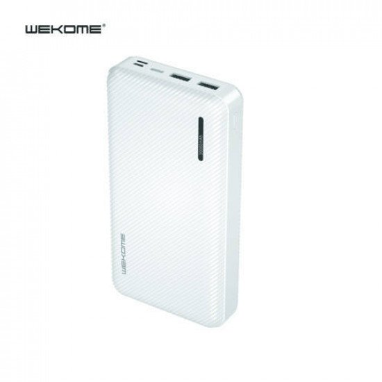 WK WP-159 Herze Max Series Dual USB 30000mAh Power Bank (White)