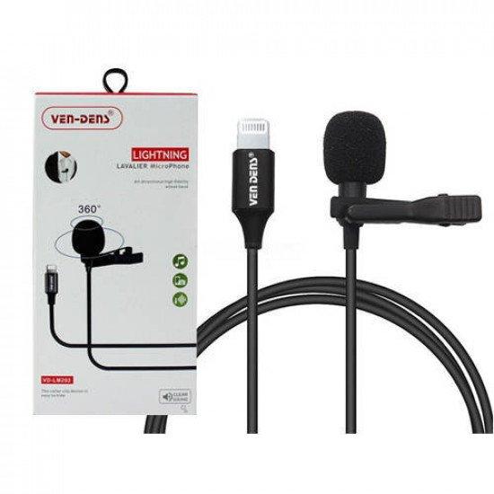 VEN-DENS VD-LM202 Lightning Lavalier Microphone