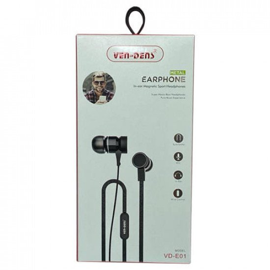 VEN-DENS VD-E01 In-Ear Earphone