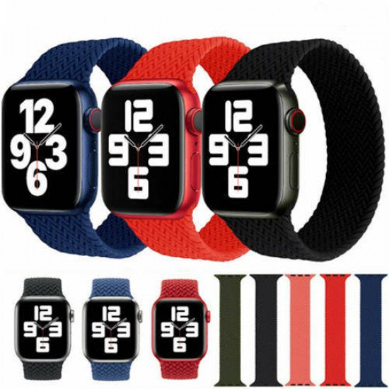 VEN-DENS Braided Solo Loop Strap (Medium) 42-44MM for Apple Watch