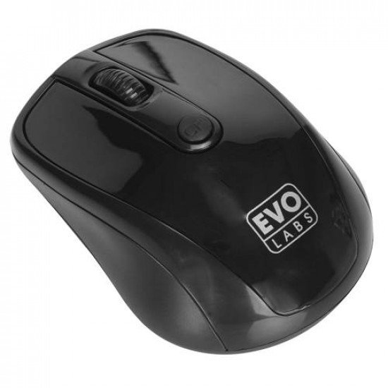 Evo Labs MO-234WBLK Wireless Optical Mouse (Gloss Black)