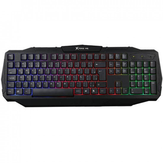 XTRIKE ME KB-302BK Luminous Multicolor USB Wired Gaming Keyboard
