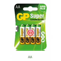 GP LRR6B4 AA 4Pack Super Alkaline Battery